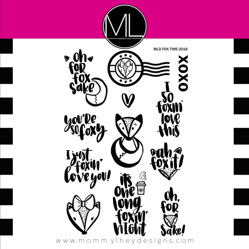 Mommy Lhey FOX THIS Clear Stamp Set MLD86 zoom image
