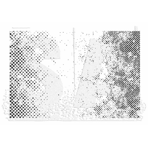 Tim Holtz Rubber Stamp HALFTONE Stampers Anonymous X1-2832 Preview Image