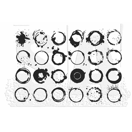 Tim Holtz Rubber Stamp RINGS Stampers Anonymous X1-2833 Preview Image