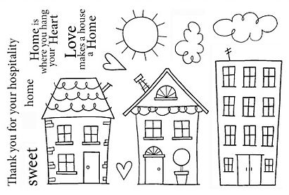 Jane's Doodles HOME SWEET HOME Clear Stamp Set 742613 Preview Image