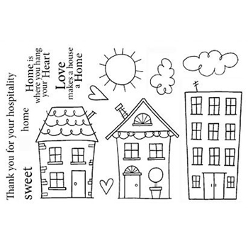 Jane's Doodles HOME SWEET HOME Clear Stamp Set 742613