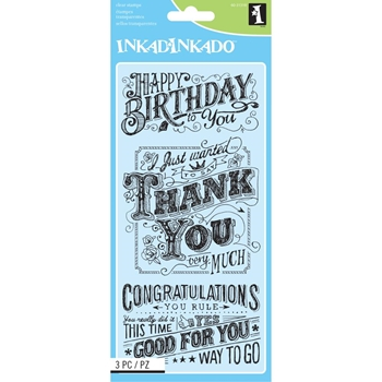 Inkadinkado Clear Stamps EXPRESS YOURSELF Set 60-31319