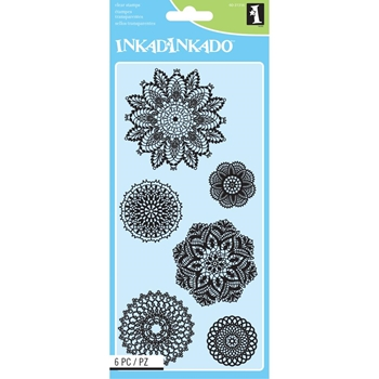 Inkadinkado Clear Stamps DECORATIVE DOILIES 60-31316