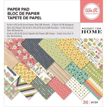 We R Memory Keepers HONEY I'M HOME 6x6 Paper Pad 660957