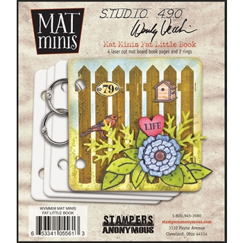 Wendy Vecchi Mat Mini FAT LITTLE BOOK Studio 490 WVMM08*
