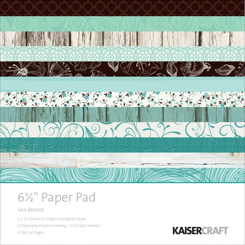 Kaisercraft SEA BREEZE 6.5 x 6.5 Inch Paper Pad PP994 Preview Image