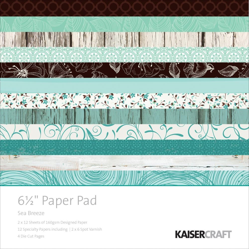 Kaisercraft SEA BREEZE 6.5 x 6.5 Inch Paper Pad PP994 zoom image