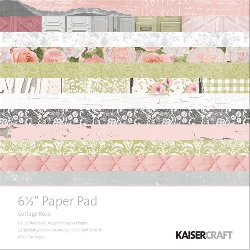 Kaisercraft COTTAGE ROSE 6.5 x 6.5 Inch Paper Pad PP995 Preview Image