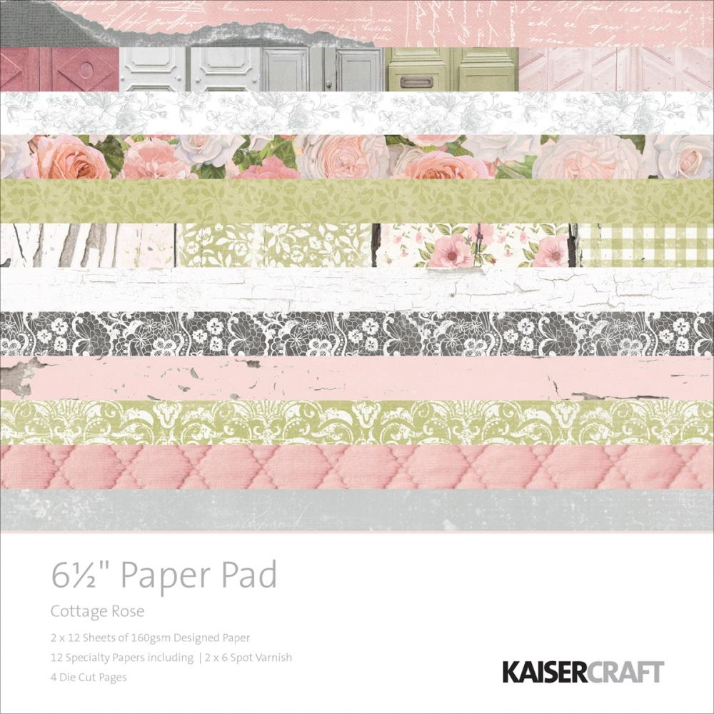 Kaisercraft COTTAGE ROSE 6.5 x 6.5 Inch Paper Pad PP995 zoom image