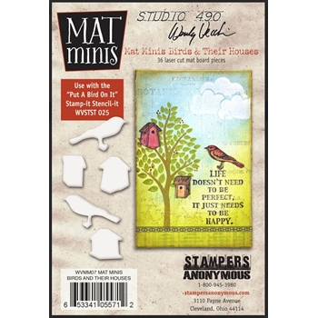 Wendy Vecchi Mat Minis BIRDS AND THEIR HOUSES Studio 490 WVMM07*