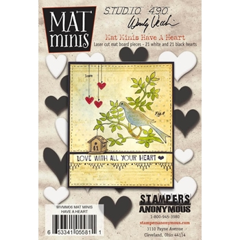 Wendy Vecchi Mat Minis HAVE A HEART Studio 490 WVMM06*