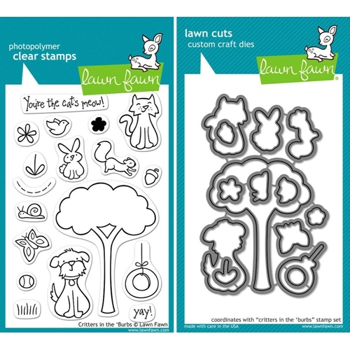 Lawn Fawn SET LFSETCITB CRITTERS IN THE 'BURBS Clear Stamps and Dies* Preview Image