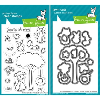 Lawn Fawn SET LFSETCITB CRITTERS IN THE 'BURBS Clear Stamps and Dies*