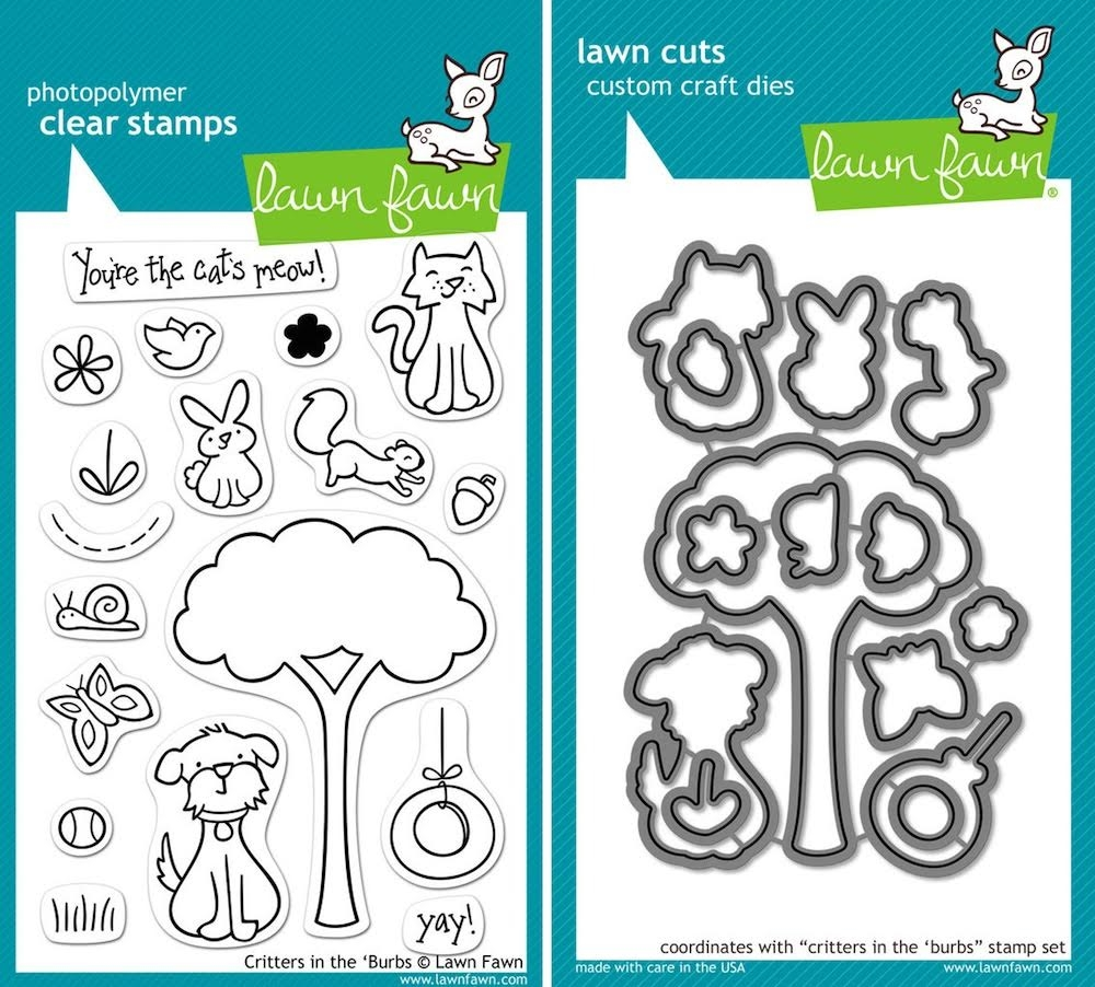 Lawn Fawn SET LFSETCITB CRITTERS IN THE 'BURBS Clear Stamps and Dies* zoom image