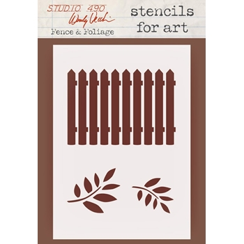 Wendy Vecchi Stencils for Art FENCE AND FOLIAGE WVSFA043