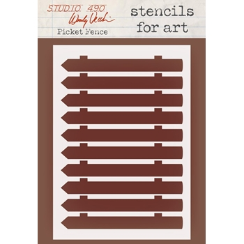 Wendy Vecchi Stencils for Art PICKET FENCE WVSFA042