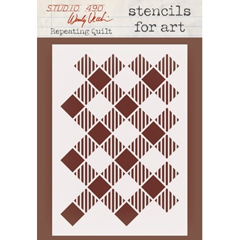 Wendy Vecchi Stencils for Art REPEATING QUILT WVSFA041