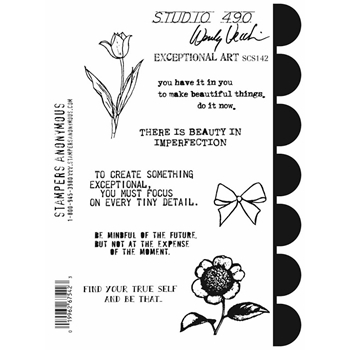 Wendy Vecchi Cling Rubber Stamps EXCEPTIONAL ART Studio 490 SCS142