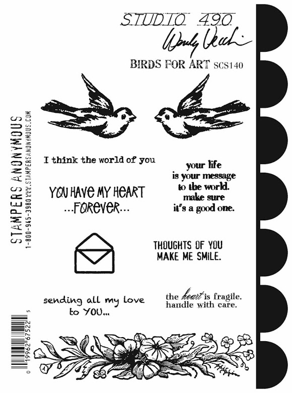 Wendy Vecchi Cling Rubber Stamps BIRDS FOR ART Studio 490 SCS140* zoom image