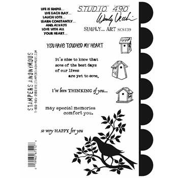 Wendy Vecchi Cling Rubber Stamps SIMPLY ART Studio 490 SCS139