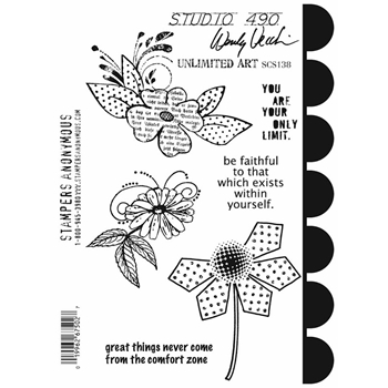 Wendy Vecchi Cling Rubber Stamps UNLIMITED ART Studio 490 SCS138*