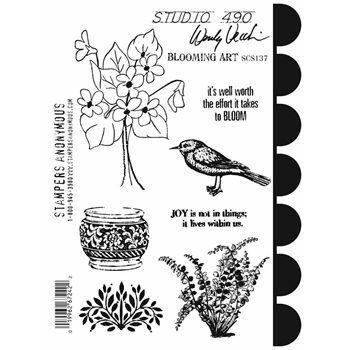 Wendy Vecchi Cling Rubber Stamps BLOOMING ART Studio 490 SCS137