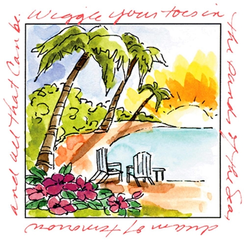 Art Impressions ISLAND Window to the World Cling Rubber Stamp UMM3178 Preview Image