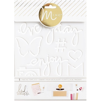 Heidi Swapp ENJOY MINC Tracing Template 313014
