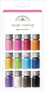 Doodlebug Sugar Coating 12 Colors GLITTER ASSORTMENT zoom image