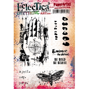 Paper Artsy EVERYTHING ART 02 ECLECTICA3 Rubber Cling Stamp EEA02