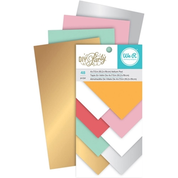 We R Memory Keepers DIY PARTY VELLUM 4x7.5 PAD 660970