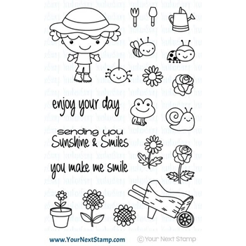 Your Next Stamp GARDENING PHOEBE Clear CYNS387