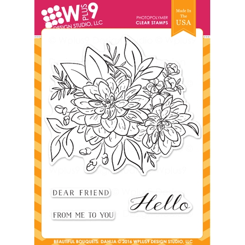 Wplus9 BEAUTIFUL BOUQUET DAHLIA Clear Stamps CLWP9BBD Preview Image