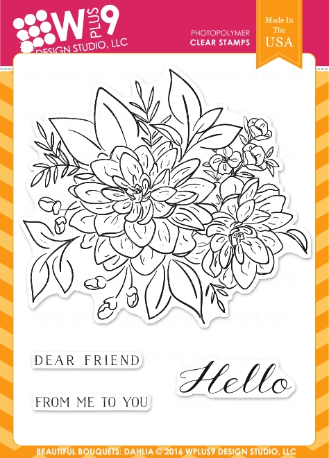 Wplus9 BEAUTIFUL BOUQUET DAHLIA Clear Stamps CLWP9BBD zoom image