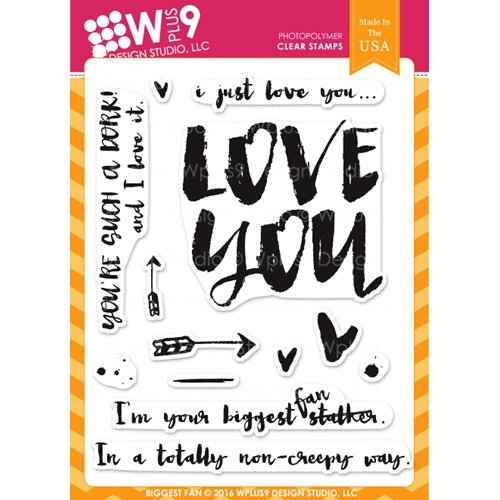 Wplus9 BIGGEST FAN Clear Stamps CLWP9YBF Preview Image