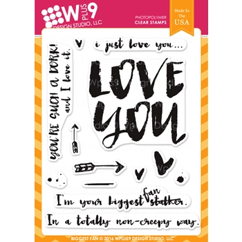 Wplus9 BIGGEST FAN Clear Stamps CLWP9YBF