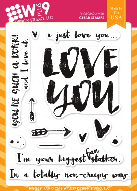 Wplus9 BIGGEST FAN Clear Stamps CLWP9YBF zoom image