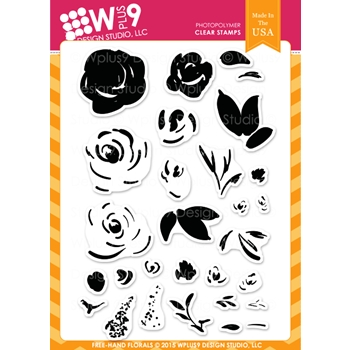 Wplus9 FREEHAND FLORALS Clear Stamps CLWP9FHFL