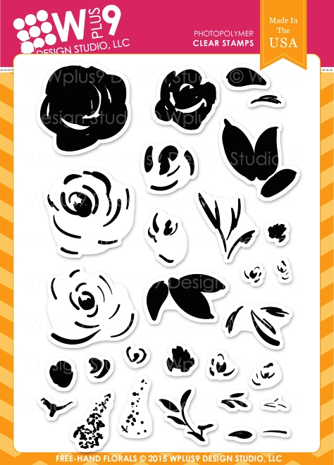 Wplus9 FREEHAND FLORALS Clear Stamps CLWP9FHFL zoom image