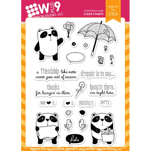 Wplus9 FRIEND FOR ALL SEASONS SPRING Clear Stamps CLWP9FFSS Preview Image