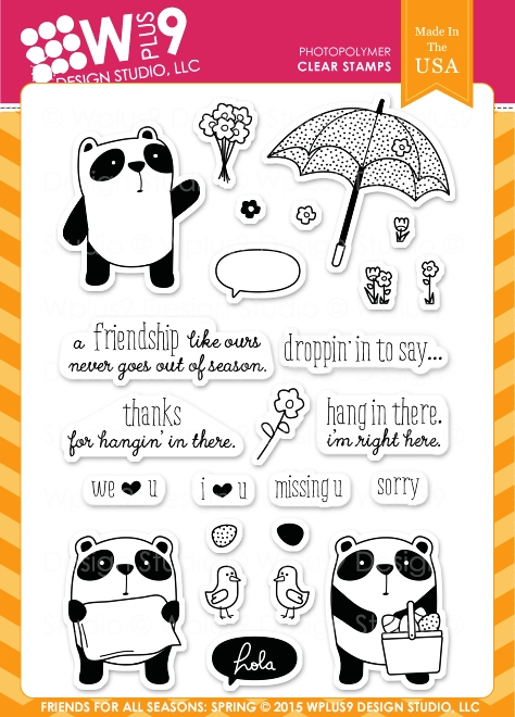 Wplus9 FRIEND FOR ALL SEASONS SPRING Clear Stamps CLWP9FFSS zoom image