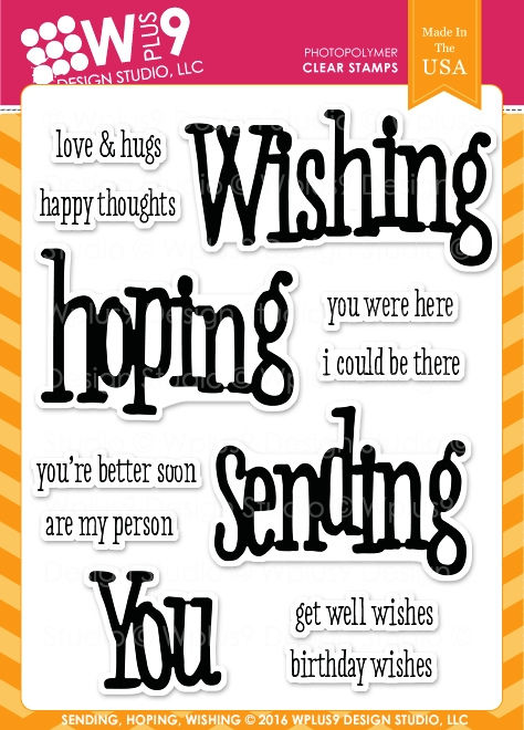 Wplus9 SENDING HOPING WISHING Clear Stamps CLWP9SHW zoom image