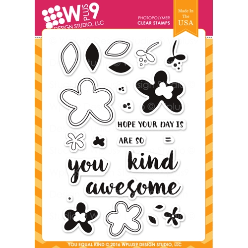 Wplus9 YOU EQUAL KIND STAMPS Clear Stamps CLWP9YEK Preview Image