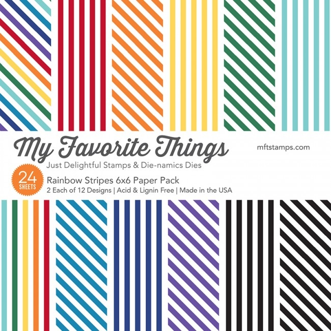 My Favorite Things RAINBOW STRIPES 6x6 Paper Pack 01225 zoom image