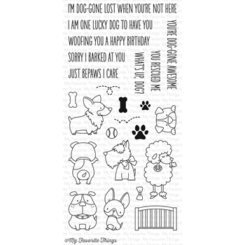 My Favorite Things LUCKY DOG Clear Stamps BB32