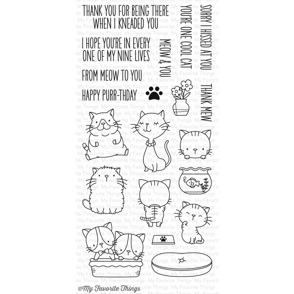 My Favorite Things Cool Cats Clear Stamps