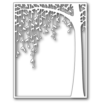 Memory Box WEEPING WILLOW ARCHWAY POPPY STAMPS Craft Die 1479
