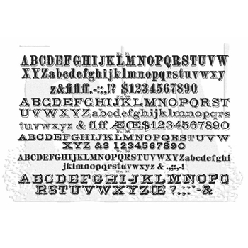 Tim Holtz Rubber Stamp TYPOGRAPHY Stampers Anonymous X1-2857