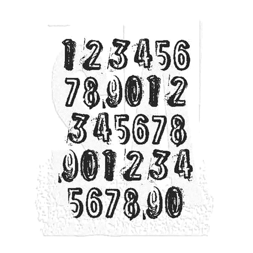 Tim Holtz Rubber Stamp COUNTDOWN Stampers Anonymous J1-2840 Preview Image