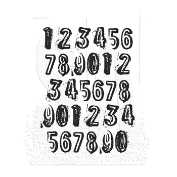 Tim Holtz Rubber Stamp COUNTDOWN Stampers Anonymous J1-2840